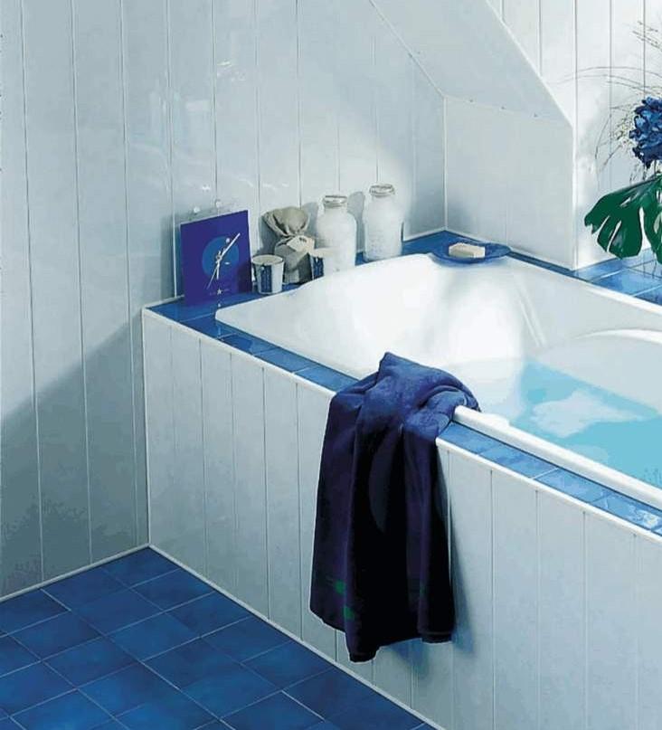 Как ванну сделать панелями