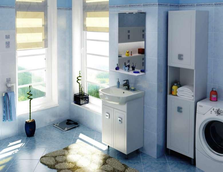 Размер раковины зависит как от площади комнаты, так и от общей стилистики ванной