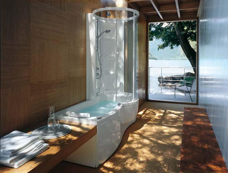 Душевая кабина с ванной фото в интерьере