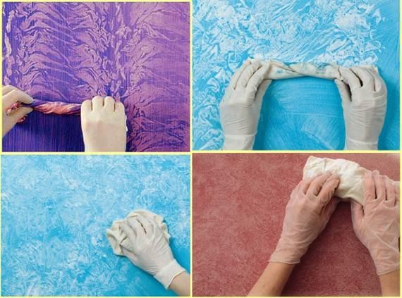Декоративная краска своими руками