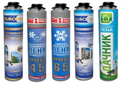 На сегодняшний день производители предлагают несколько разновидностей пены монтажной полиуретановой