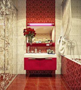 Оригинальный интерьер добавит привлекательности ванной комнате и будет радовать долгое время