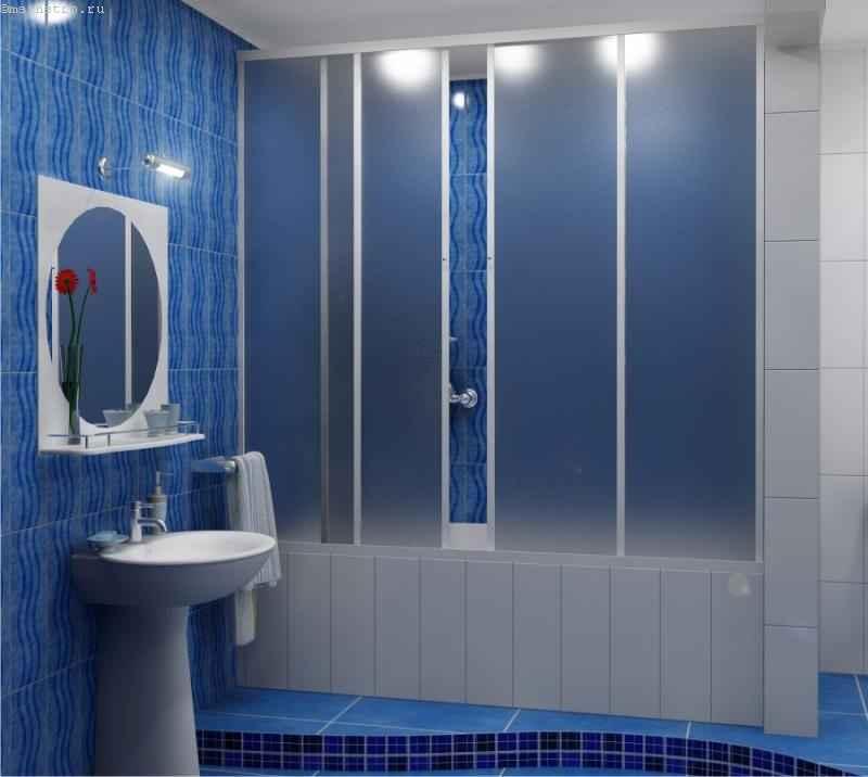 Вариант оформления комнаты и установки шторок на ванну