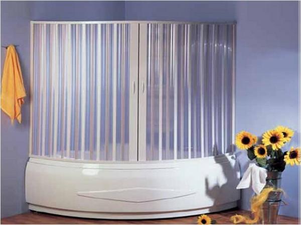 Фото прекрасного решения для ванной - матовое или цветное стекло