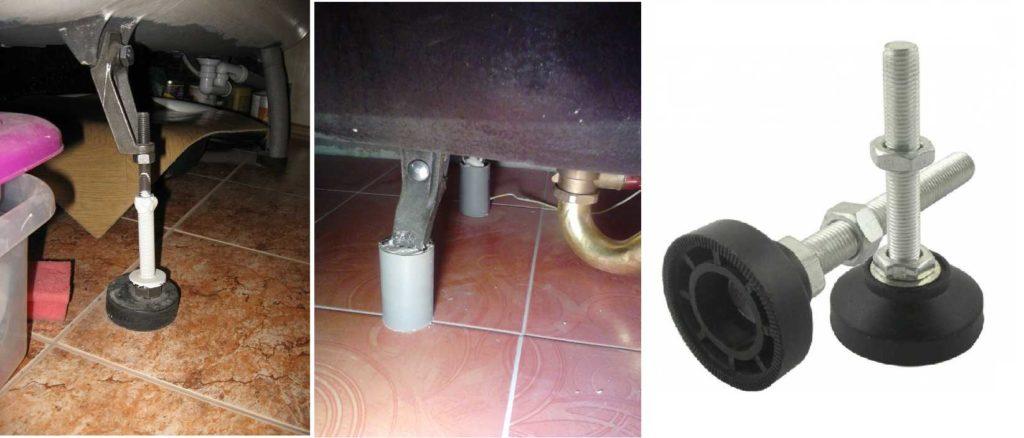 Вариант подложки под ножки ванны