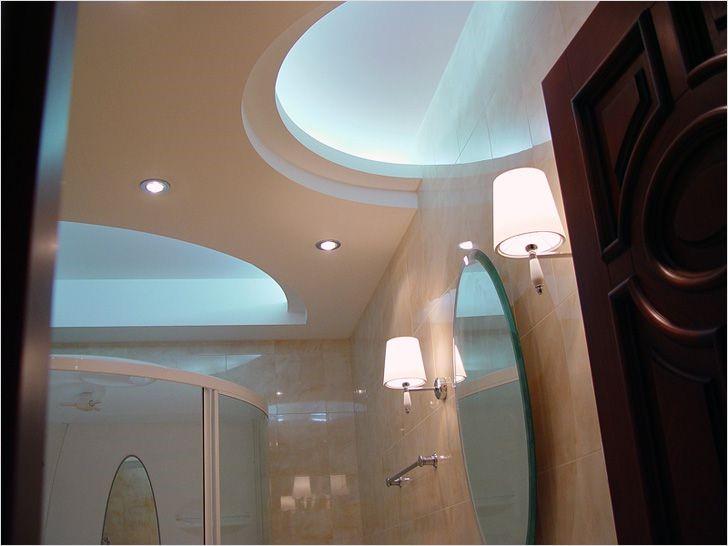 Визуальные свойства гипсокартонных потолков можно преобразовать несколькими светильниками, расположенными оригинально